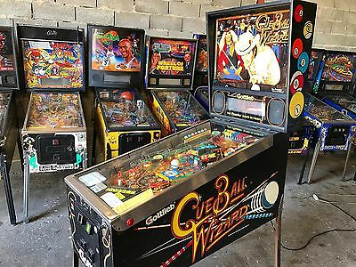 Pinball Gottlieb 1992 CUE BALL WIZARD - Flipper Good Condition - All Manual Orig