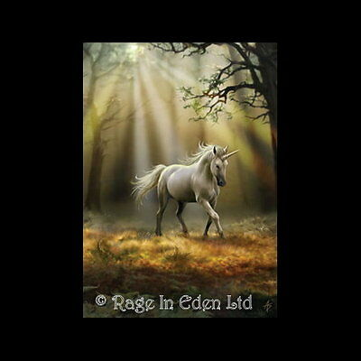 *GLIMPSE OF A UNICORN* Anne Stokes Fantasy Art Blank Greeting Card (AN30)
