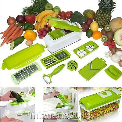 Deluxe Kitchen Slicer Dicer Grater Peeler Vegetable Salad Fruit Storage Box S7