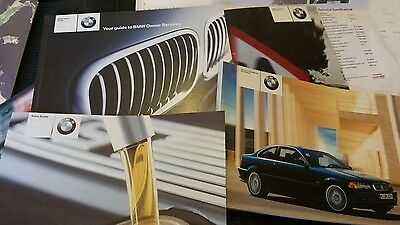 bmw 3 series owners manual  & SERVICE BOOK USED  318 CI 2003
