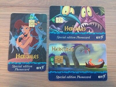 BT Phonecards, Special Edition Walt Disney Hercules, Used