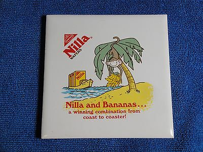 Nabisco Advertising 4.25 X 4.25 Tile/Coaster, Nilla Wafers