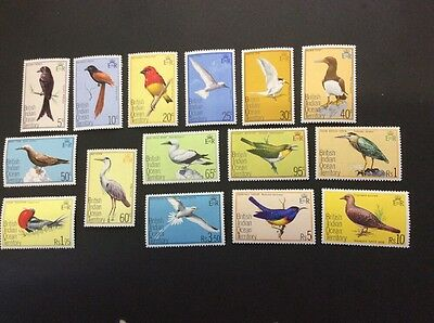 British Indian Ocean Territory SG62/76 Birds Definitives - MNH - Unmounted Mint.