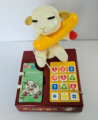 Shari Lewis Lamb Chop Play telephone 1993 Play-Tech HTF Working Vintage