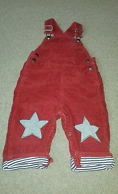 Baby Mini Boden Star Print Dungarees Red. Boy Girl 18-24 Months.