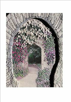 Unique Embroidery Kit with Transferred Photos: Cotswold Archway