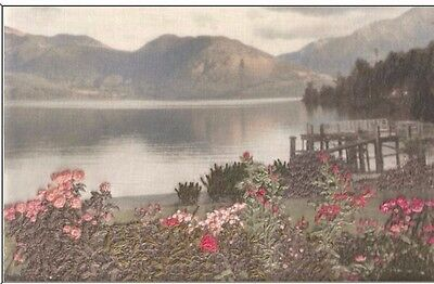 Unique Embroidery Kit with Transferred Photos: New Zealand Lake