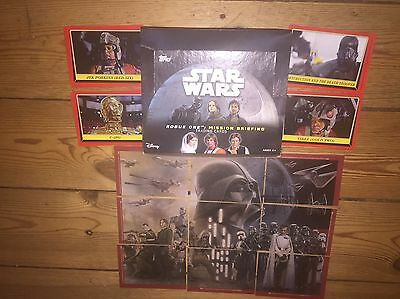 Star Wars Rogue One Mission Briefing Mint 100 Card Set , Puzzle Set & Box