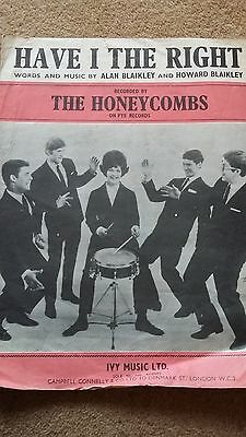 Have I the Right original sheet music Honeycombs