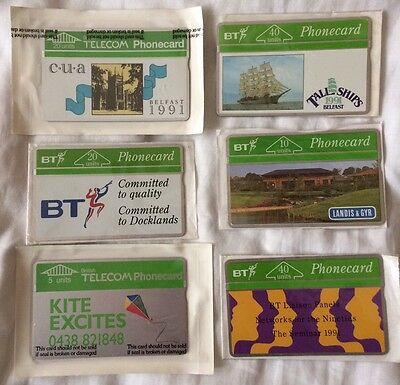 Six Mint Collectable BT Phonecards