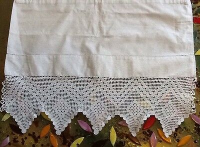 Antique White Linen And Lace Bolster