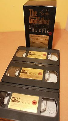 The Godfather The Epic 1901-1959 Vintage VHS Collection 1972