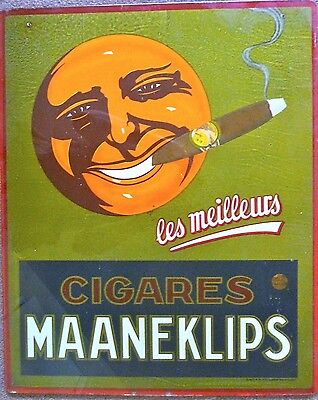 Turn of the Century Cigar Poster on Belgium Glass