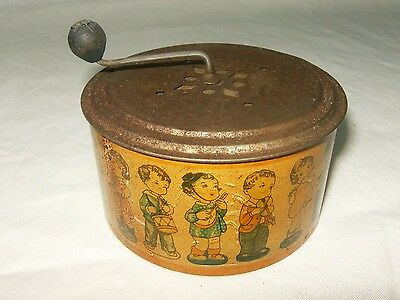 Antique hand crank childs music box Made in Western Germany