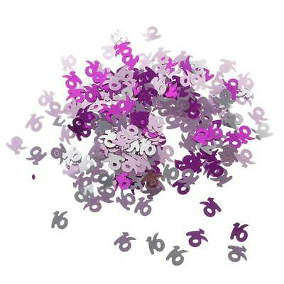 Table Confetti Sprinkles 16 Age Number Figure Birthday Anniversary Party