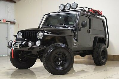 2006 Jeep Wrangler  RARE JEEP WRANGLER 4.0L UNLIMITED LJ 4X4 LIFTED WINCH ROOF RACK 58K MILES NICE