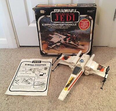 Vintage Star Wars X Wing Battle Damaged Decals Box & Instructions ROTJ 1983