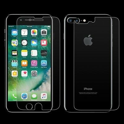Premium Tempered Glass Screen Protector for Apple iPhone 7 Plus Front and Back