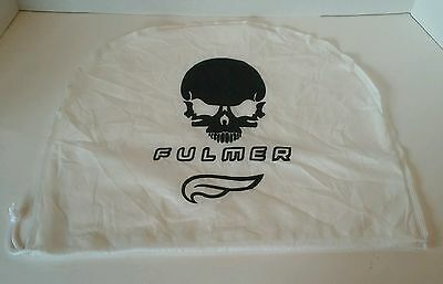 Fulmer Skull Motorcycle Half Helmet Bag Dust Cover White Drawstring Tote Bag