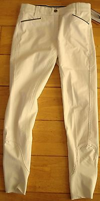 Brand New Horseware Ladies Competition Breeches, White Size 30
