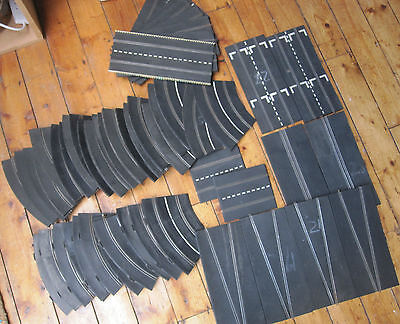 Scalextric Early Triang Track Bundle 52 pieces Straights Curves W Chicane Pieces