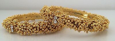 Bollywood Style/ Indian Jewellery/ Party Wear/ 2 Gold Bangals - diamanté