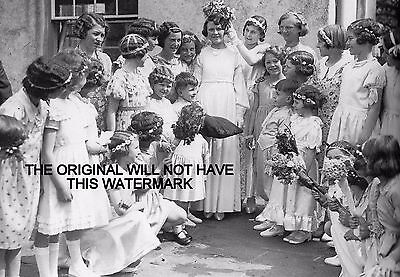 Torrington Devon Carnival May Queen 1925  Vintage Mounted Print Ancestry