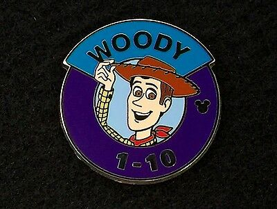 Disney Trading Pin - Hidden Mickey 2014 Wave A Heroes Parking Sign Woody - 99877