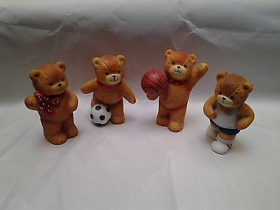 Enesco Lucy and Me  Four Teddy Bears Figurines