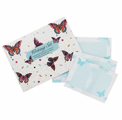 WRITING SET - BUTTERFLY - (10 Sheets and Envelopes) - NEW