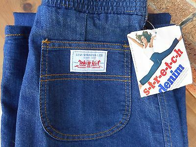 Levi's 1970s Vintage Womens 12 High Waisted Stretch Denim Jeans nwt deadstock