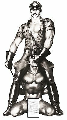 TOM OF FINLAND  .( S&M ) Gay art *** MAGNET poster  30 cm
