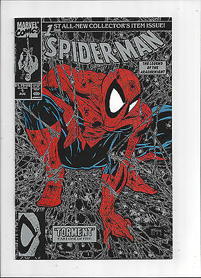 Spider-Man #1/Marvel Comic Book/Todd mcFarlane/Silver Cover/NM+