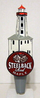Steelback Red Maple Lighthouse 2-Side Beer Tap Handle (New)