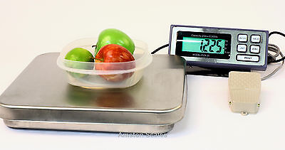 25 Lb Pizza Scale Digital Hands Free Foot Tare Peddle Switch Bakery Food Portion