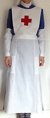 VAD Uniform Costume Nurse Handmade WW1 WWI Historical day Apron oversleeves veil