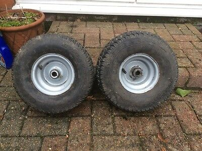Ride On Mower Wheels 15x6.5-6NHS Matching Pair Titan Supertrac