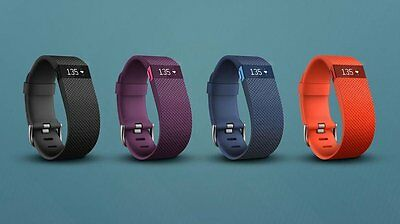 NEW GENUINE Fitbit Charge HR Heart Rate and Activity Wristband SMALL / LARGE