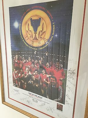 Day of the Dons (Aberdeen Football Club) signed and framed artwork ***RARE***