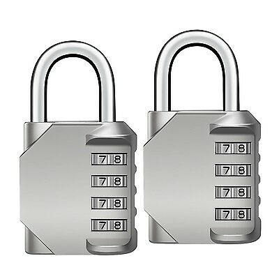 Oria Resettable Combination lock Security Lock Set 4 Digit Padlock for Travel...