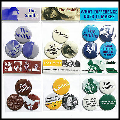 The Smiths - Post-Punk Button Badge Pack Complete Listing All Packs 10% OFF RRP