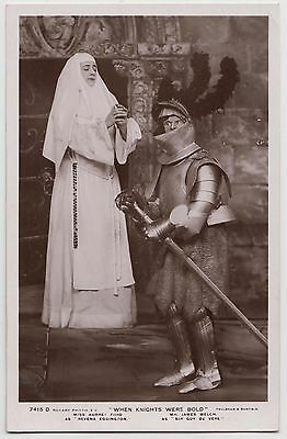 "POSTCARD - actress Audrey Ford as nun & James Welch in ""When Knights Were Bold"""