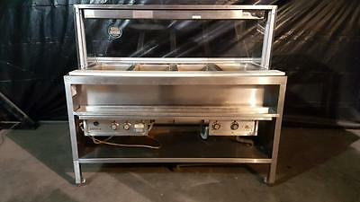 4 Well Steam Buffet Table Serving Line