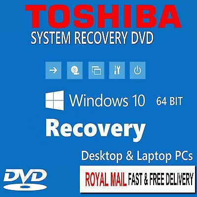 Toshiba Windows 10 Home Professional Recovery Repair Install Boot Disc Software