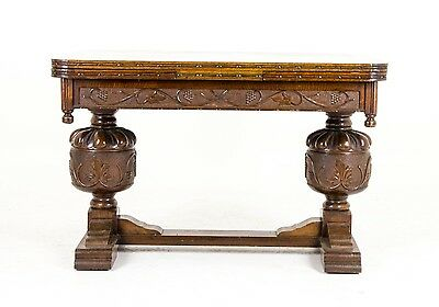 B464 Antique Scottish Oak Refectory Draw leaf, Dining Table