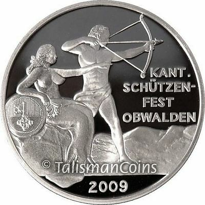 Switzerland 2009 Obwalden Shooting Festival 50 Swiss Francs Thaler Silver Proof