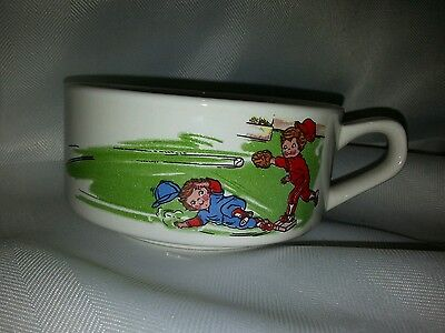 Campbell's Soup Kids Playing Baseball Collectible Ceramic Soup Mug