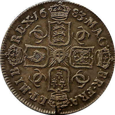 1683 sixpence Charles II Silver coin