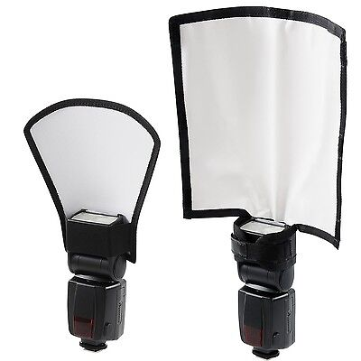 Flash Reflector Diffuser Kit Bend Bounce Positionable Diffuser + Silver/White...