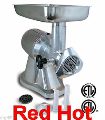 Omcan 21720 Heavy Duty Electric  #12 Meat Grinder 1 HP FA12G81